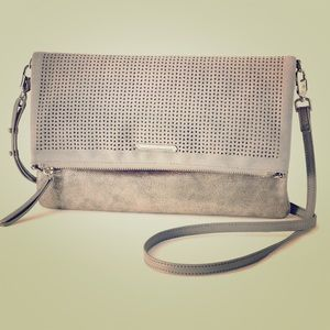 Stella & Dot Waverly Petite Grey Crossbody Bag